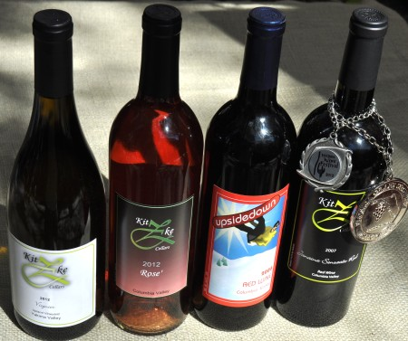 Wines from Kitzke Cellars. Photo copyright 2013 by Zachary D. Lyons.
