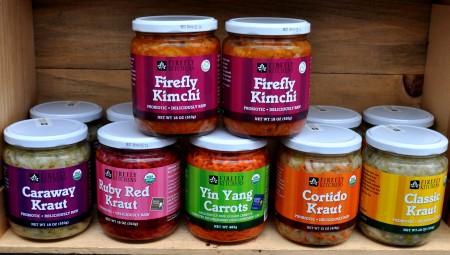 Kimchi, Krauts & more from Firefly Kitchens at Ballard Farmers Market. Copyright Zachary D. Lyons.