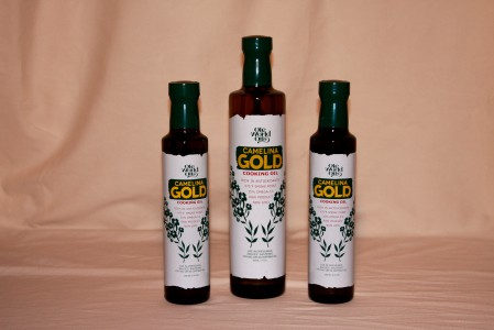 Camelina cooking oil from Old World Oils. Photo courtesy Old World Oils.