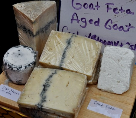 Aged goat cheeses from Twin Oaks Creamery. Photo copyright 2013 by Zachary D. Lyons.