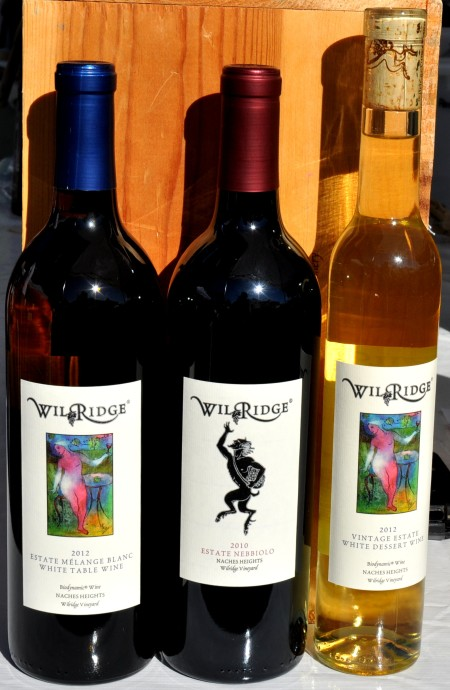 These organic estate wines come from Wilridge Winery in Madrona. Copyright Zachary D. Lyons.