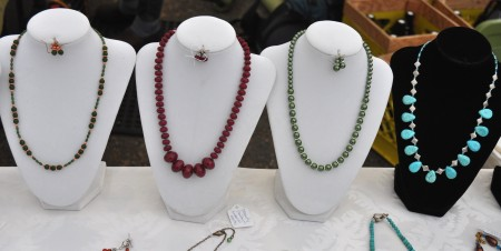 Handmade beaded necklaces from Gypsy Beaded Creations. Photo copyright 2013 by Zachary D. Lyons.