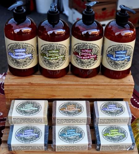 Goat milk soaps from The Fay Farm. Photo copyright 2013 by Zachary D. Lyons.