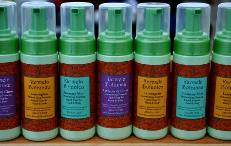 New liquid soaps from Karmela Botanica. Photo copyright 2013 by Zachary D. Lyons.