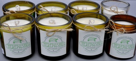 Non-toxic, natural candles from Cherepashka Candles. Photo copyright 2014 by Zachary D. Lyons.