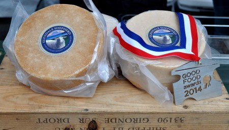 Awarding-winning sheep cheese from Glendale Shepherd. Photo copyright 2014 by Zachary D. Lyons.