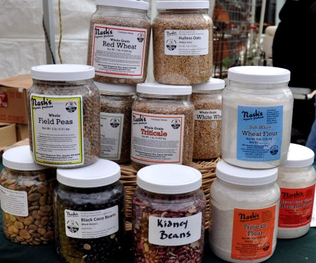 Whole grains, flour and dried legumes from Nash's Organic Produce. Photo copyright 2014 by Zachary D. Lyons.