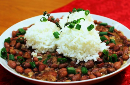 Red beans & rice from Simply Soulful. Photo courtesy Simply Soulful.