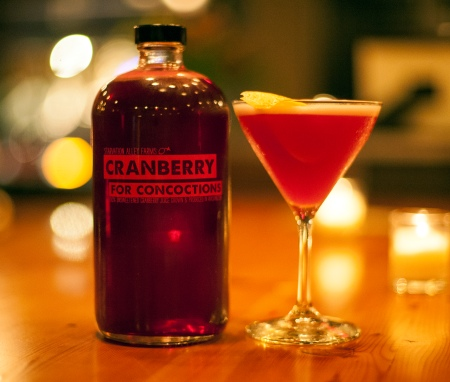 Fresh-pressed organic cranberry juice from Starvation Alley Farms. Photo courtesy Starvation Alley Farms.
