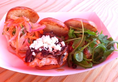 Salmon sliders from Loki Fish. Photo courtesy Loki Fish.