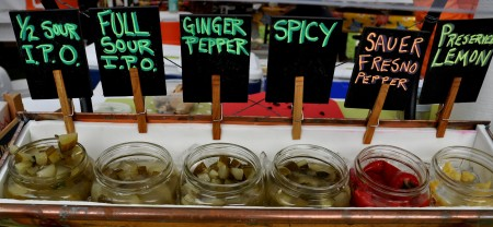 Naturally-fermented pickles from Britt's Pickles at Ballard Farmers Market. Copyright Zachary D. Lyons.
