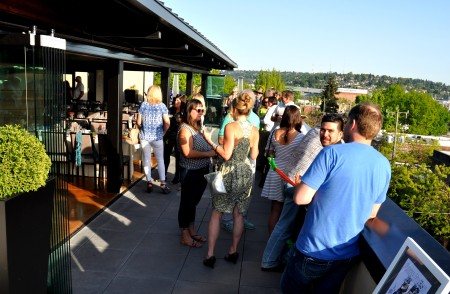 Hanging out on the roof of Hotel Ballard during the Farmers Market Dinner & Auction to Support Fresh Bucks. Photo copyright 2014 by Zachary D. Lyons.