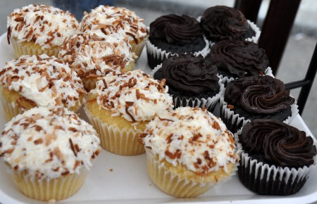 Gluten-free cupcakes from nuflours. Photo copyright 2014 by Zachary D. Lyons.