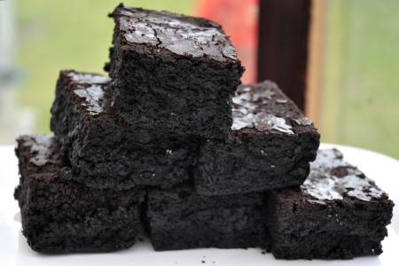 Gluten-free brownies from Nuflours Gluten-Free Bakery at Ballard Farmers Market. Copyright Zachary D. Lyons.