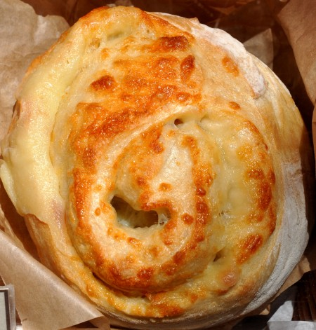 Gruyere bread from Snohomish Bakery at Ballard Farmers Market. Copyright Zachary D. Lyons.