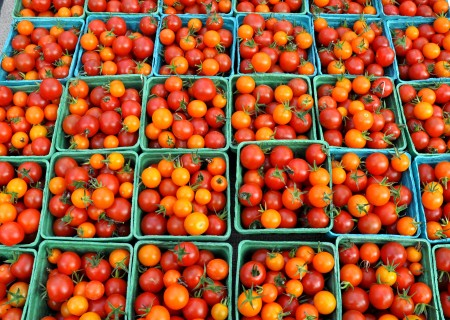 Cherry tomatoes from Gaia's Harmony Farm at Ballard Farmers Market. Copyright Zachary D. Lyons.