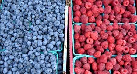 Blueberries and raspberries from Hayton Farms. Copyright Zachary D. Lyons.