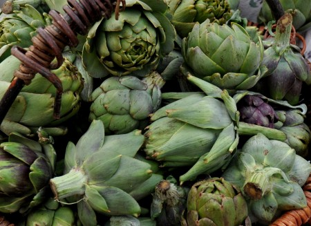 Artichokes from Nash's Organic Produce at Ballard Farmers Market. Copyright Zachary D. Lyons.