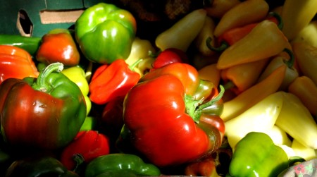 Sweet peppers from Colinwood Farm at Ballard Farmers Market. Copyright Zachary D. Lyons.