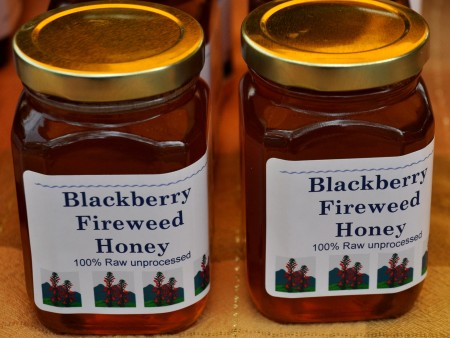 Fireweed honey with a hint of blackberry from Golden Harvest Bee Ranch at your Ballard Farmers Market. Copyright Zachary D. Lyons.