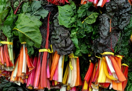 Rainbow chard from Nash's Organic Produce at your Ballard Farmers Market. Copyright Zachary D. Lyons.