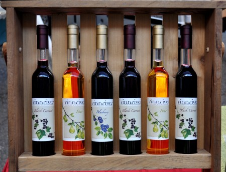 Cordials from Finnriver Farm & Cidery at Ballard Farmers Market. Copyright Zachary D. Lyons.