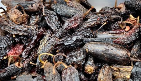 Dried chipotle peppers from Alvarez Organic Farms Ballard Farmers Market. Copyright Zachary D. Lyons.
