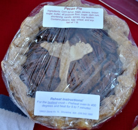 Chanukah pecan pie from Deborah's Homemade Pies at Ballard Farmers Market. Copyright Zachary D. Lyons.