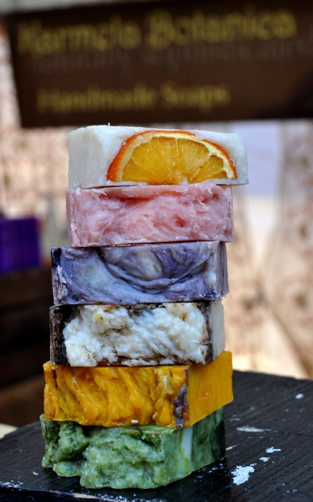 Handmade soaps from Karmela Botanicals at Ballard Farmers Market. Copyright Zachary D. Lyons.