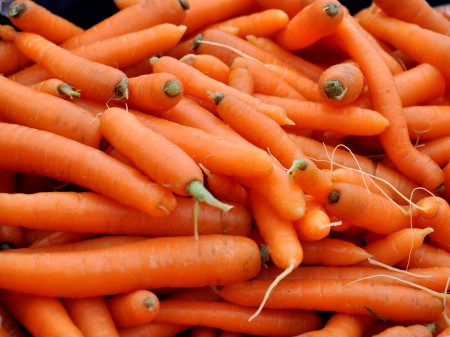 Organic Carrots from Kirsop Farm at Ballard Farmers Market. Copyright Zachary D. Lyons.