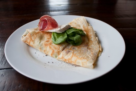 A savory breakfast crepe from La Crespella at Ballard Farmers Market. Photo courtesy La Crespella.