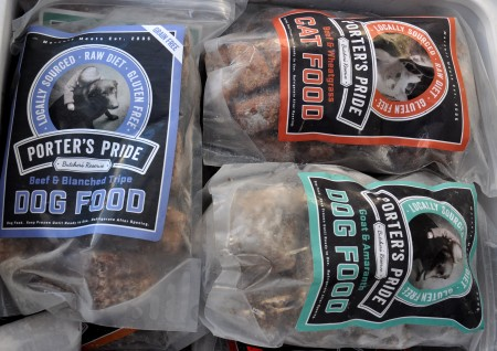 Raw pet foods from Porter's Pride at Ballard Farmers Market. Copyright Zachary D. Lyons.