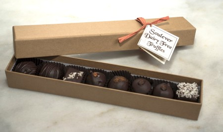 Gift box of dairy-free truffles from Soulever Chocolates at Ballard Farmers Market. Courtesy Soulever Chocolate.