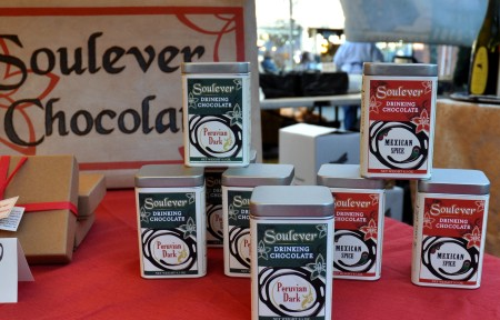 Drinking chocolate from Soulever Chocolates at Ballard Farmers Market. Copyright Zachary D. Lyons.