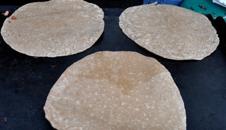 Fresh, homemade tortillas from Patty Pan Grill at Ballard Farmers Market. Copyright Zachary D. Lyons.
